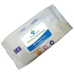 50 Pack Antibacterial Hand Sanitiser Wipes