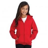 Heavy Blend Youth Full Zip Hooded Sweatshirt