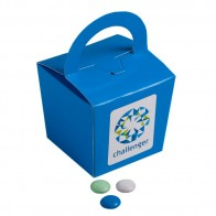 Coloured Noodle Box Filled with Choc Beans (Corporate Colours) 100G