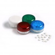 Small Screw Cap Jar (White, Blue, Red or Green Lids)