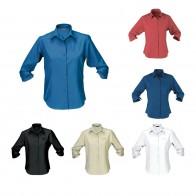 Ladies' Woven Shirt (3/4 Sleeve)