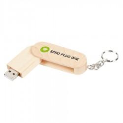 Rotating Wooden USB