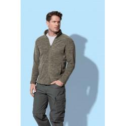 Mens Active Melange Fleece Jacket