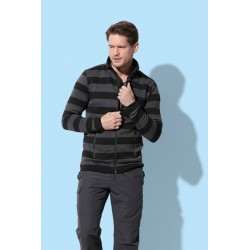 Mens Active Striped Fleece Jacket