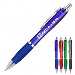 Plastic Pen Ballpoint Silicone Grip Transparent Cara