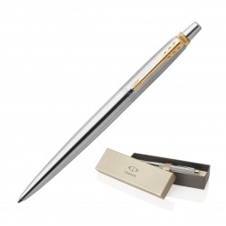 Metal Pen Ballpoint Parker Jotter - Brushed Stainless GT