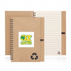 Eco Notebook Recycled Paper Spiral Bound