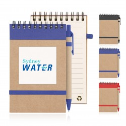Eco Notepad Recycled Paper Spiral Bound with Z244