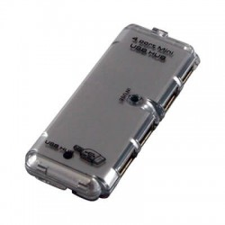 Crystal Mini USB 4 Port Hub