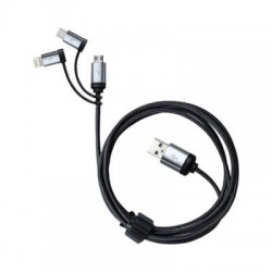 Pesaro 3n1 Fabric Charge & Data Cable
