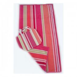 Island Stripe Beach Towel with Bag