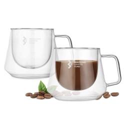 230ml Diamond Glass Coffee Cup
