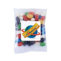 Assorted Colour Mini Jelly Beans in 60 Gram Cello Bag