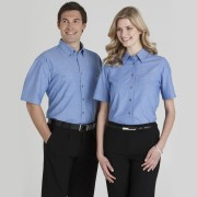 S/S Wrink Free Chambray Shirt