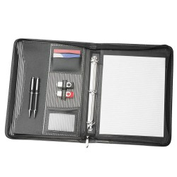 A4 Zippered Compendium with Removable 3 Ring Binder