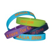 Colour Filled Wristbands - debossed