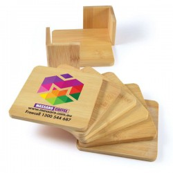 Tropic Bamboo Coasters Set of 6